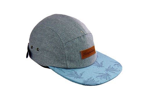 Picture of Hemp 5 Panel Contrast Peak Cap