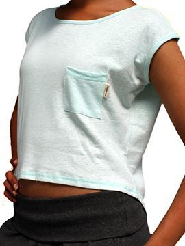 Picture of Hemp Ladies Short Sleeved Cropped T-shirt