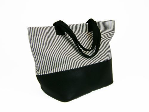 Picture of Hemp Ladies Two Tone Basket Tote