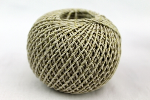 Picture of Hemp twine 1mm with Brass metallic thread