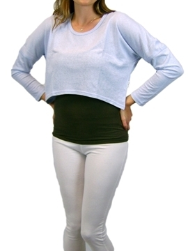 Picture of Hemp Ladies Long Sleeve Cropped T-shirt