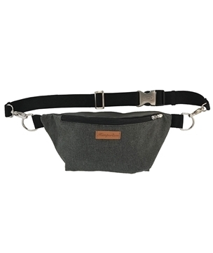 Steel Hemp Zipper Pouch Front View