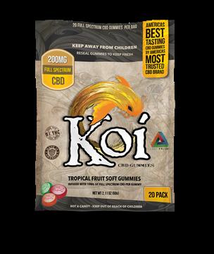 pack of 20 tropical flavour CBD gummies
