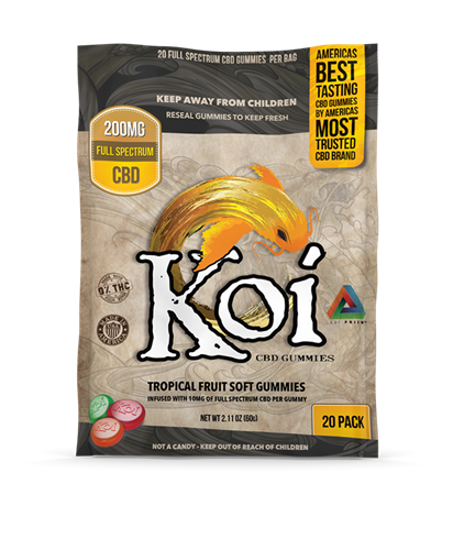 pack of 20 tropical flavour CBD gummies