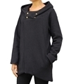 Ladies black hemp and organic cotton hooded top
