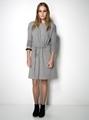 ladies grey hemp and organic cotton dress