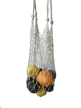 plastic-free reusable net shopper bag handmade from sustainable hemp twine