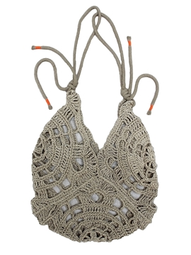 Woven bag handmade from sustainable eco-friendly hemp twine
