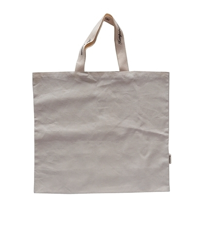 plastic-free reusable shopper bag from sustainable organic hemp