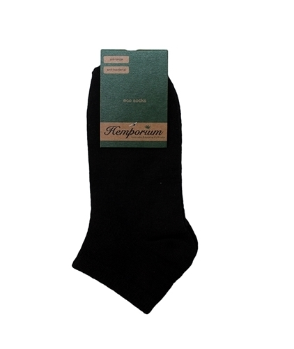 Hemp ankle socks in black