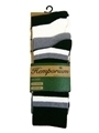 pack of four pairs of hemp socks including a pair in natural colour, black, grey and striped
