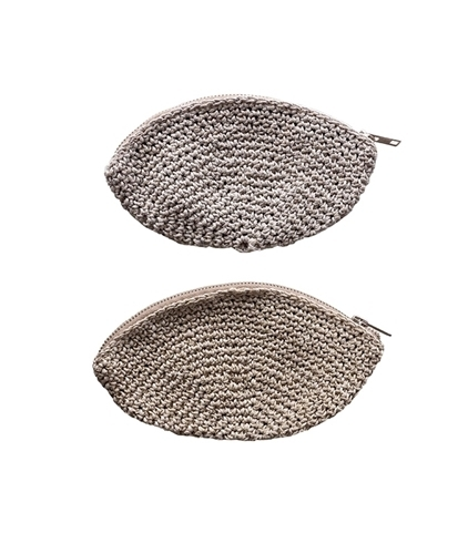 Hemp Twine Moon Purse Metallic