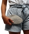 Hemp Twine Moon Purse Metallic size reference