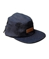 Hemp 5 panel cap in denim