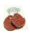 Moonbasket Hemp Twine Earrings Red