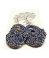 Moonbasket Hemp Twine Earrings Blue