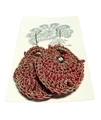 Moonbasket Hemp Twine Earrings Crimson