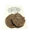 Moonbasket Hemp Twine Earrings Bronze