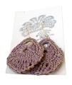 Moonbasket Hemp Twine Earrings Lilac