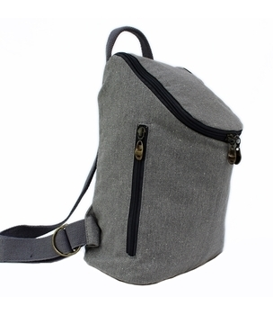 Small hemp backpack in grey