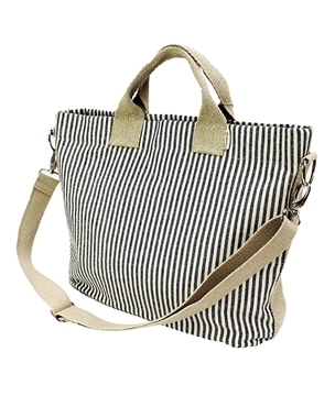 Striped Hemp Messenger bag
