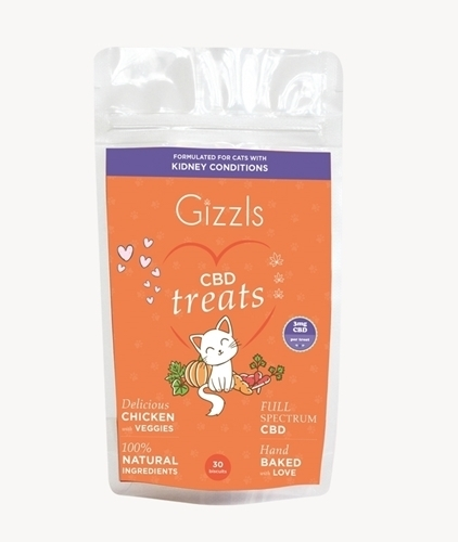 Gizzls CBD treats for cats with CKD