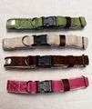 Large Hemp Dog Collar color variants