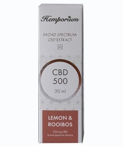 Hemporium 500mg Broad Spectrum CBD Lemon & Rooibos
