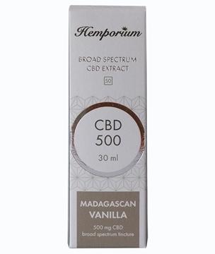 Hemporium 500mg Broad Spectrum CBD Madagascan Vanilla