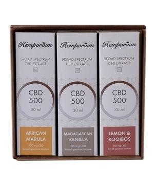Hemporium 500mg Broad Spectrum CBD Flavours of Africa Set