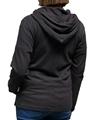 Ladies hemp spring zip up black